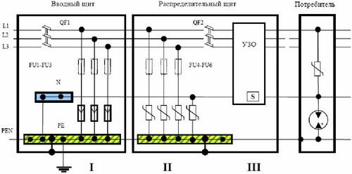 схема подключения узо в трехфазную сеть - Микросхемы.